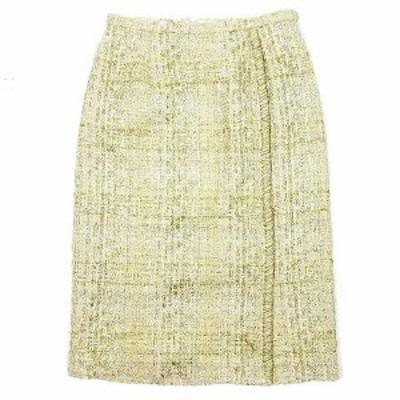 【中古】未使用品 20SS  自由区 オンワード樫山 Class Lounge TOURNIER スカート ツイード ミモレ丈 38 SKWCBS0150