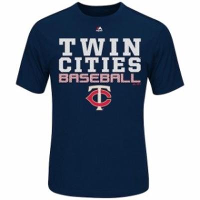 Majestic マジェスティック スポーツ用品  Majestic Minnesota Twins Navy Feel the Pressure T-Shirt