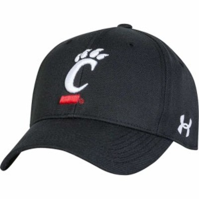 アンダーアーマー Under Armour メンズ キャップ 帽子 Cincinnati Bearcats Adjustable Black Hat