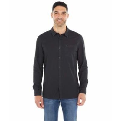 クイックシルバー メンズ シャツ トップス Taxer Long Sleeve Black