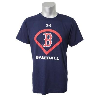 MLB レッドソックス Tシャツ 半袖 UA パフォーマンス アイコン アンダーアーマー/UNDER ARMOUR ネイビー【OCSL】