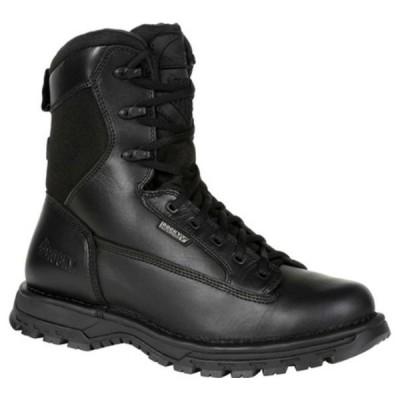 """ロッキー ブーツ&レインブーツ シューズ メンズ Portland 8"""" Side Zip WP Service Boot RKD0067 (Men's) Black Full Grain Leather"""