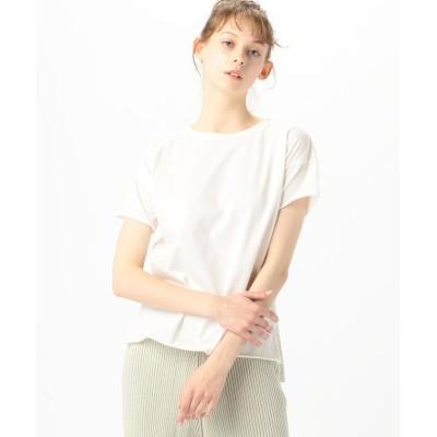【トゥモローランド】 v::room コットン ドロップショルダークルーネックTシャツ レディース 11ホワイト 1 TOMORROWLAND