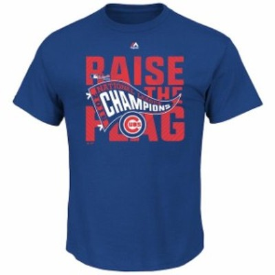 Majestic マジェスティック スポーツ用品  Majestic Chicago Cubs Royal 2016 National League Champions Locker Room T-S
