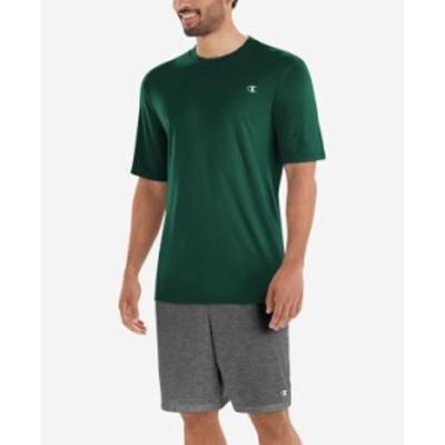 チャンピオン メンズ Tシャツ トップス Men's Double Dry T-Shirt Dark Green
