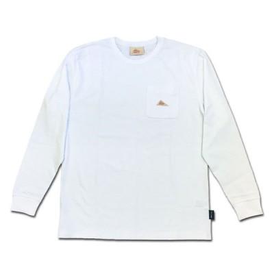 KELTY ケルティ ミニロゴポケットL/S Tシャツ ホワイト CORDURA コーデュラ POCKET LONG SLEEVE T-SHIRT USA KE-211-13007