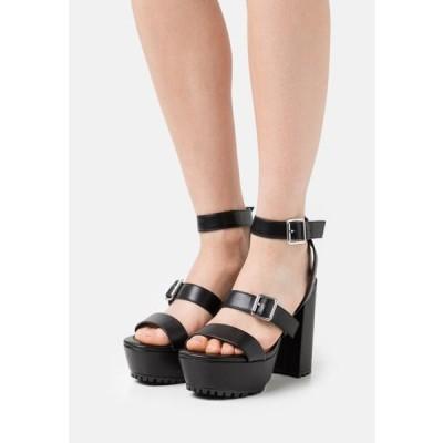 レディース サンダル High heeled sandals - black