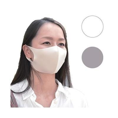 冷感 マスク ふつうサイズ(大人用)男女兼用約30×12cm グレー色(3枚入り) COOL FEELING MASK 夏向け 水洗いで繰り返し使える