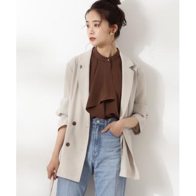 N.(N. Natural Beauty Basic) / ライトダブルテーラードジャケット WOMEN ジャケット/アウター > テーラードジャケット