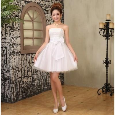 ウェディングドレスレディースドレスミニドレスショートイプニングドレス女性2020結婚式花嫁披露宴二次会演奏会