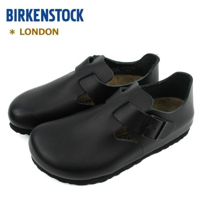 ビルケンシュトック レディース メンズ レザーシューズ 靴 ロンドン ブラック BIRKENSTOCK LONDON #1004303 (ナロー幅:幅狭) 〔SK〕