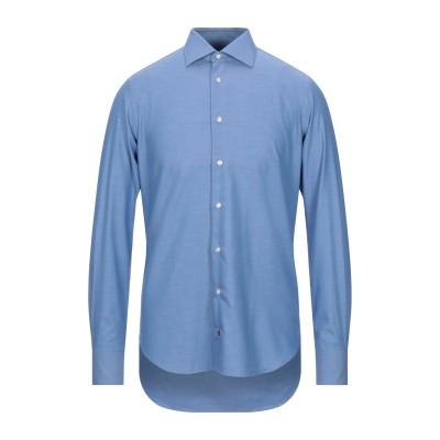 EXCLUSIVE by CÀRREL シャツ アジュールブルー 39 コットン 100% シャツ