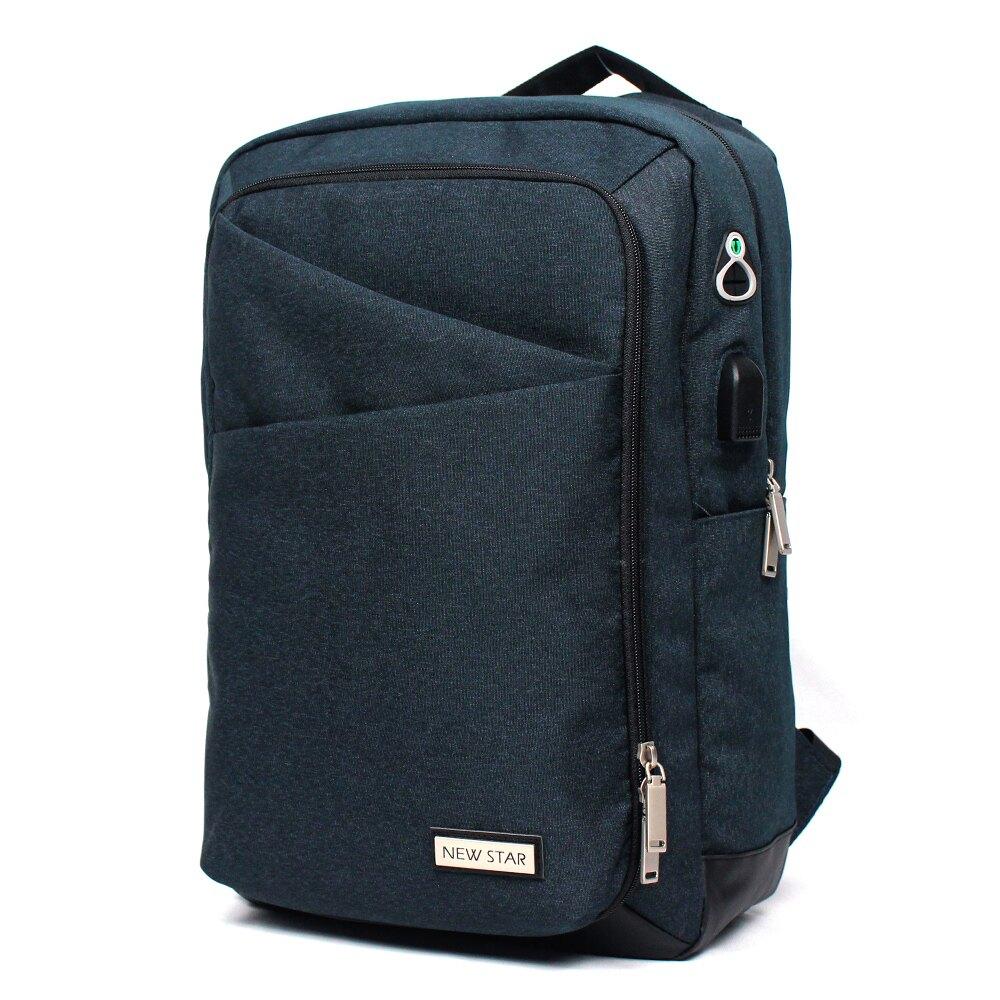 後背包 時尚機能防水雙層筆電包包 大容量 電腦包 男 女 男包 現貨 升級 NEW STAR BK295