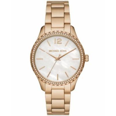 マイケルコース レディース 腕時計 アクセサリー Layton Three-Hand Gold-Tone Stainless Steel Watch Gold