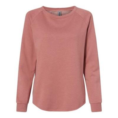 レディース 衣類 トップス Women's California Wave Wash Crewneck Sweatshirt Independent Trading Co. Tシャツ