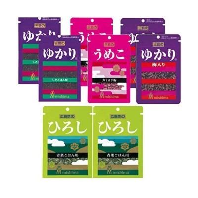【Pas-a-pas オリジナル】三島食品 2021年2月新発売 広島菜の(ひろし)16g×2袋 (ゆかり)26g×2袋 (ゆかり梅入り)2