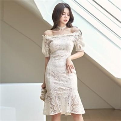 春夏新作 パーティードレス フォーマルドレス フォーマルワンピース 結婚式ワンピース 結婚式ドレス レースドレス 韓国ワンピース タイト