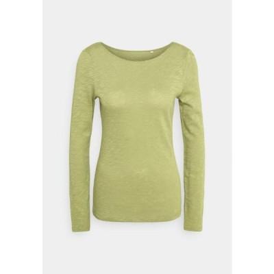 マルコポーロ レディース ファッション LONG SLEEVE - Long sleeved top - dried sage