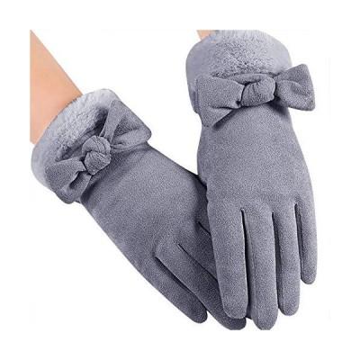 「4色」Caseeto 手袋 てぶくろ グローブ 女性用 レディース 通勤 通学 手袋 防寒 暖かい ファー付きリボン手袋 プレゼント 冬 秋 かわい