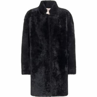 イヴ サロモン Yves Salomon レディース コート シアリング アウター meteo shearling coat Black