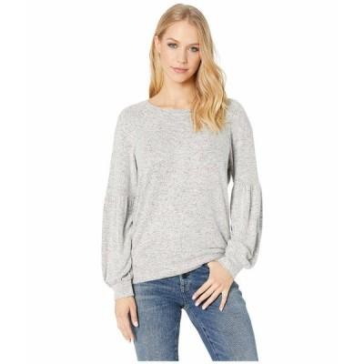 ビービーダコタ パーカー・スウェットシャツ アウター レディース Are You Shirred Sweatshirt Heather Grey