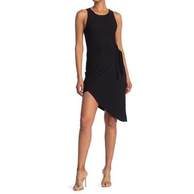 BCBジェネレーション レディース ワンピース トップス Front Tie Sleeveless Dress BLACK