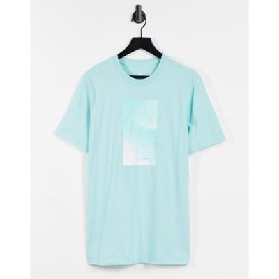 ナイキ メンズ シャツ トップス Nike burnout logo t-shirt in aqua