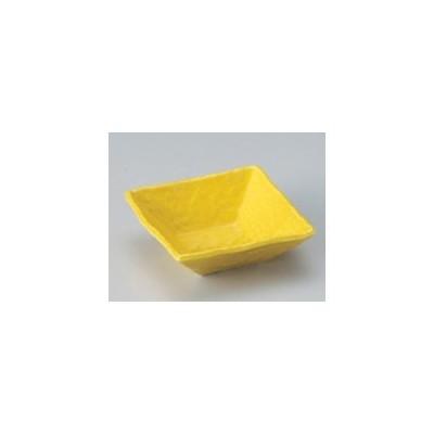 和食器 / 小鉢 中 黄正角浅小鉢 寸法:11 x 11 x 3.9cm