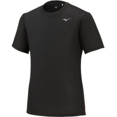 ミズノ メンズ ドライエアロフローTシャツ(ブラック・サイズ:S) mizuno J2MA102009S 【返品種別A】