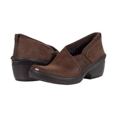 Bzees レディース 女性用 シューズ 靴 ヒール Tribute - Brown Leather Fabric