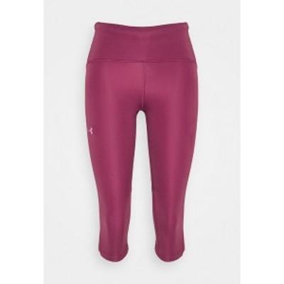 アンダーアーマー レディース レギンス ボトムス FLY FAST SPEED CAPRI - 3/4 sports trousers - pink quartz pink quartz