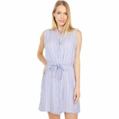 ユーエスポロアッスン U.S. POLO ASSN. レディース ワンピース ノースリーブ ワンピース・ドレス Sleeveless Stripe Tie Belt Woven Dres