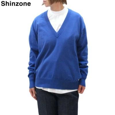 Shinzone(シンゾーン) BUSYニット Tシャツセット Vネック レディース コットン カシミヤ 綿 セーター 長袖 全4色 無地