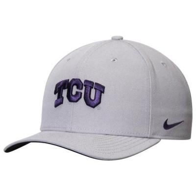 ユニセックス スポーツリーグ アメリカ大学スポーツ TCU Horned Frogs Nike Wool Classic Performance Adjustable Hat - Gray - OSFA