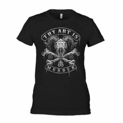 ザイ アート イズ マーダー Thy Art Is Murder レディース Tシャツ トップス Baphomet Skull Black