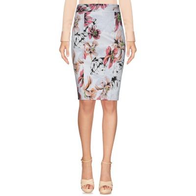ブルマリン BLUMARINE ひざ丈スカート ホワイト 40 コットン 95% / ポリウレタン 5% ひざ丈スカート