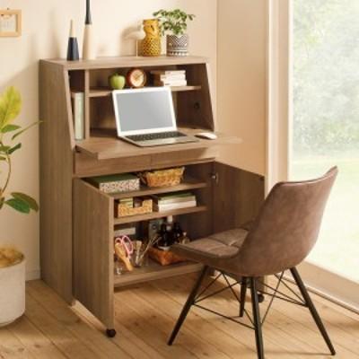 家具 収納 ホームオフィス家具 パソコンキャビネット 北欧風のライティング収納デスク 幅80.5cm 552818