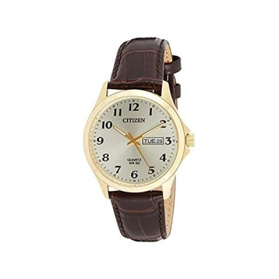 〈新品送料無料〉Citizen Quartz Gold Dial Brown Leather Men's Watch BF5002-05P
