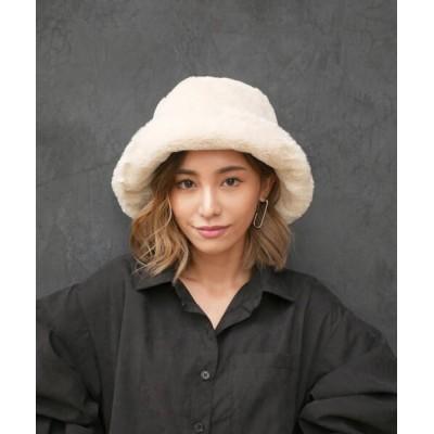 My shawty / fur bucket hat WOMEN 帽子 > ハット