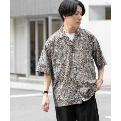 URBAN RESEARCH ITEMS/アーバンリサーチ アイテムズ オープンカラー 総柄半袖シャツ A M