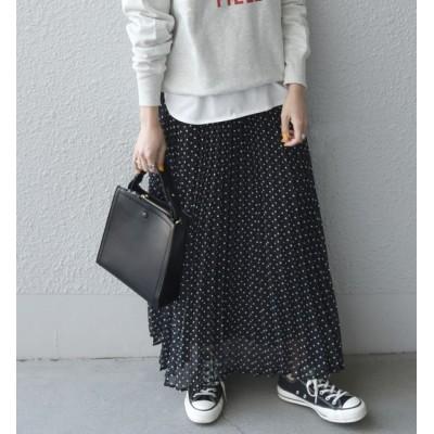 【シップス/SHIPS】 SHIPS any: ドット プリーツスカート