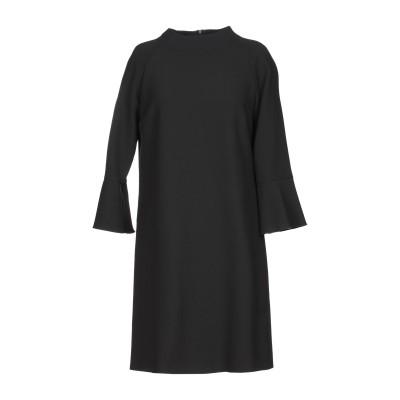 MARELLA ミニワンピース&ドレス ブラック 44 ポリエステル 63% / レーヨン 27% / コットン 7% / ポリウレタン 3% ミニ