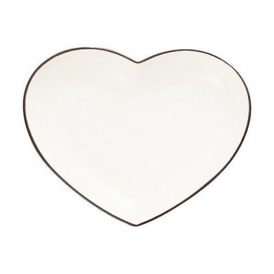 皿 フェリーチェ ハート カレー&パスタ皿 ホワイト 21*27*4cm ( 1コ入 )