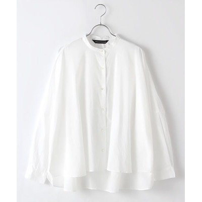 MARcourt/マーコート back gatherd wide shirt off white FREE