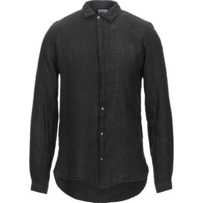 ベルナ BERNA メンズ シャツ トップス Linen Shirt Black