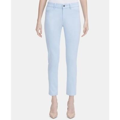 カルバンクライン カジュアルパンツ ボトムス レディース 4-Pocket Straight-Leg Pants Cashmere Blue