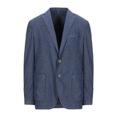 FRADI テーラードジャケット ブルー 54 コットン 59% / 麻 20% / ポリエステル 20% / ポリウレタン 1% テーラードジャケ