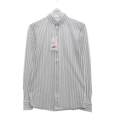 LACOSTE ライクラーファイバーストライプシャツ ホワイト×グレー サイズ:XS (堅田店) 200628