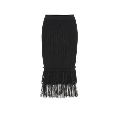 ジョナサン シンカイ Jonathan Simkhai レディース ひざ丈スカート スカート Stretch-knit midi skirt Black