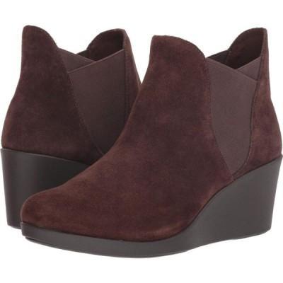 クロックス Crocs レディース ブーツ チェルシーブーツ ウェッジソール シューズ・靴 Leigh Wedge Chelsea Boot Espresso